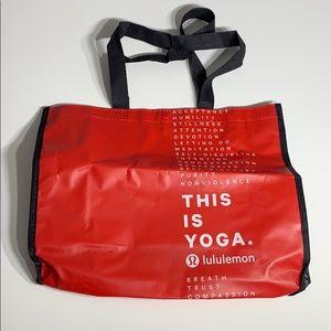 Lululemon Red Reusable Bag M/L